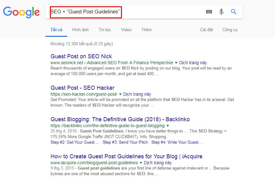 Xây dựng link chất lượng guest post
