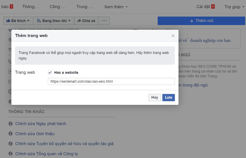 hướng dẫn seo facebook lên TOP