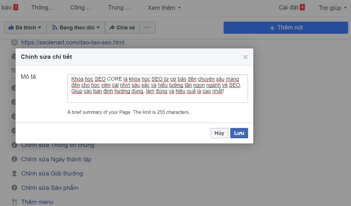 hướng dẫn seo facebook lên TOP google