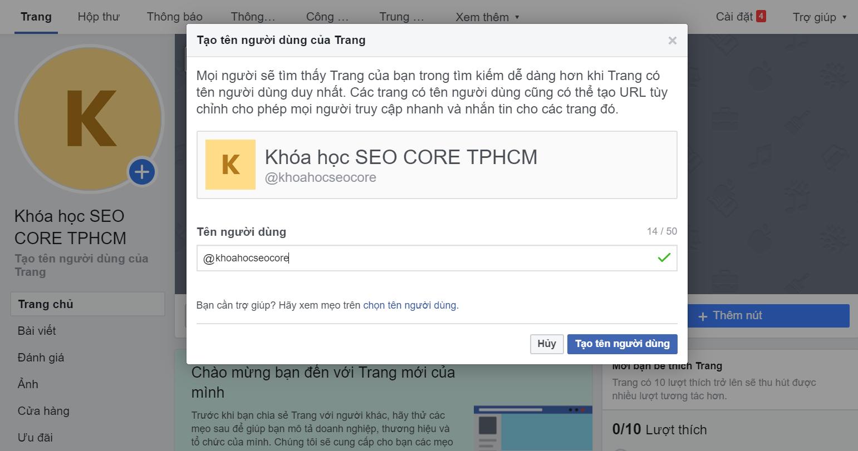 cách seo fanpage facebook hiệu quả lên top 1