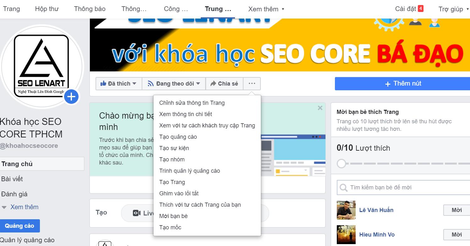 seo fanpage facebook lên top hiệu quả 1